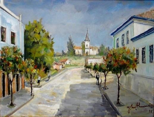 JOSÉ MARIA DE ALMEIDA (1906-1995)Igreja em Caxambú - MG,1976,ost, 50 x 65