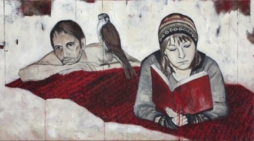 Sonia Gansterer, (Austria, 1968.) Onde você diz que é o paraíso -wo du erzählst wird himmel, 2010, ast,140 x 80 cm --www.soniagansterer.at
