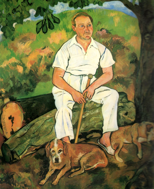 Suzanne Valadon. Andre Utter and his dogs
