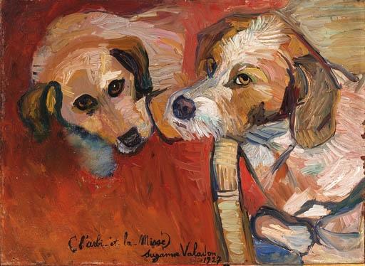 Suzanne Valadon (França, 1865-1938) L_arbi e La Misse, 1927, ost, 32 x 44