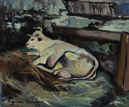 Suzanne Valadon (França, 1865-1938)Vaca deitada no estábulo,1921 ost,