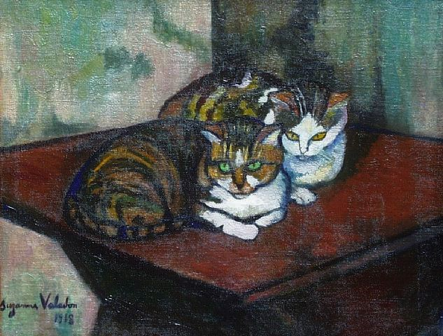 two-cats-1918ost Suzanne Valadon