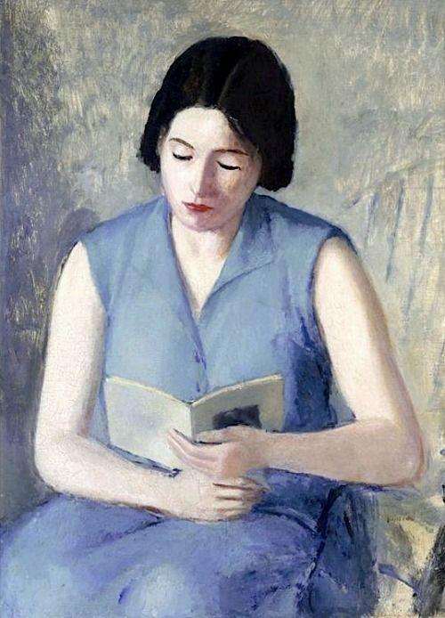 Virgilio Guidi (1891-984) Mulher lendo