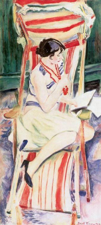 Frank Frigyes , (Hungria, 1890–1976) Mimi na cadeira de bordo, 1927 ost