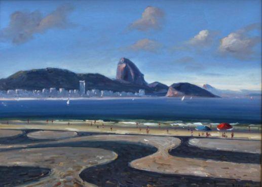 José Benigno, Copacabana, Óleo sobre placa, 30 alt X 40 larg (cm), acid, 2010