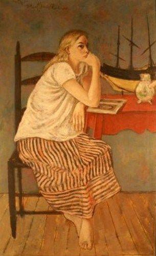 NoelRockmore (EUA, 1918-1995) A mulher do artista à mesa