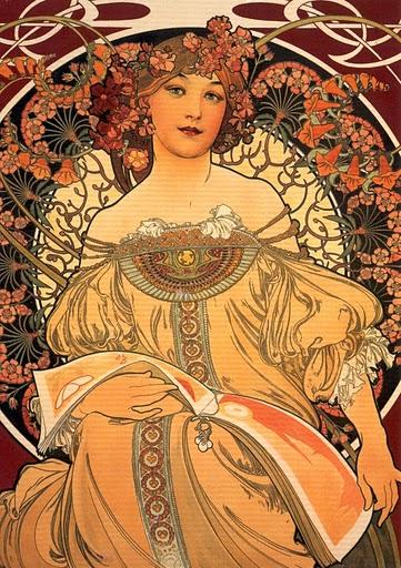 Alphonse Mucha, Reverie 1896,