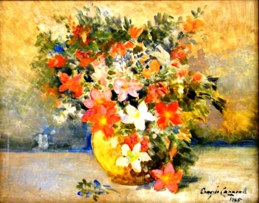 ANGELO CANNONE (1899-1992). Jarro com Flores do Campo, óleo s tela, 38 X 46