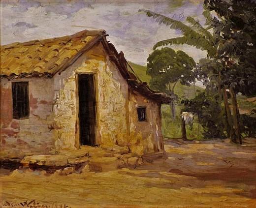 EDGAR WALTER - Paisagem - Óleo sobre tela - 33 x 41 - Década de 1940
