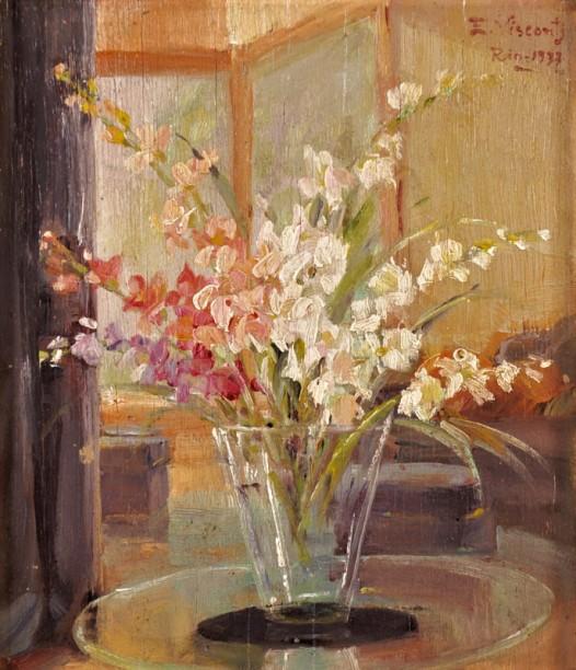 Eliseu Visconti, Vaso de flores OSM, 17 x 15 1933 ACSD