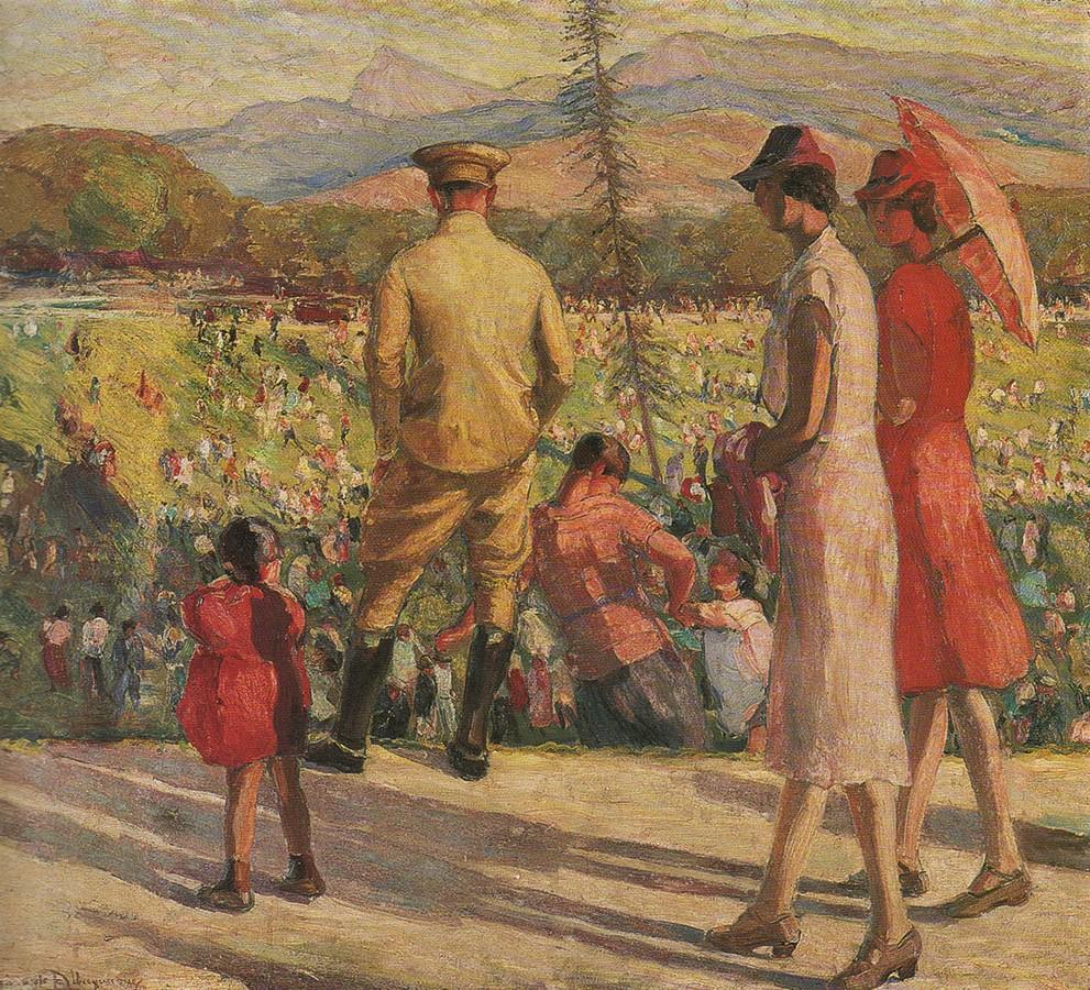 Georgina de Albuquerque, Domingo na Quinta da Boa Vista, ost. 98 x 111cm