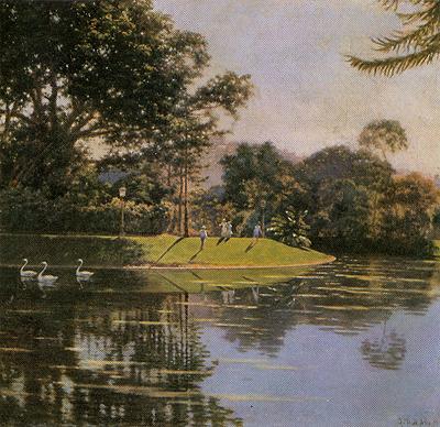 GUSTAVO DALL'ARA-Quinta da Boa Vista - ost - 55 x 58 - 1919 - Coleção Fadel