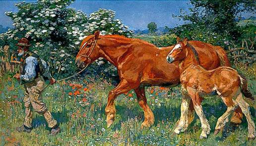 Munnings, Alfred James, 1878-1959; Sunny June