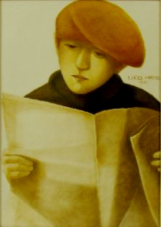 Lucia Helena Redic de Campos (Brasil, 1945) - Quadro pincel seco sobre papel 50x70cm