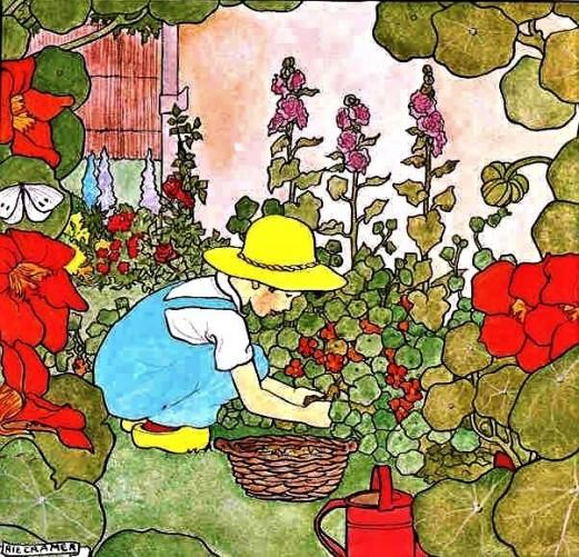primavera, flores, plantar, Marie Cramer