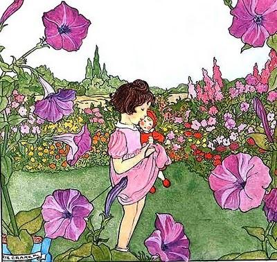 Primavera, Menina com boneca, Marie Cramer