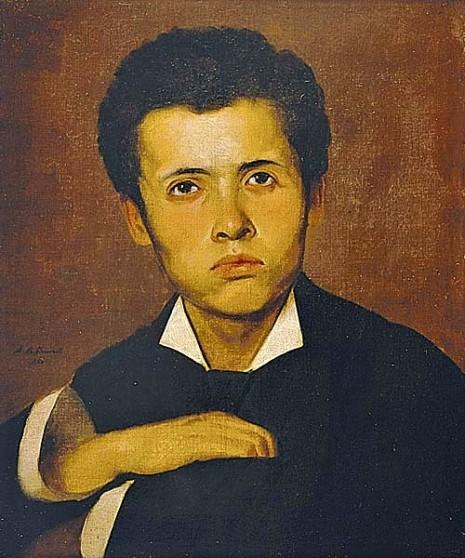 Augusto Rodrigues Duarte Ano, Rosto de menino, 1881, Óleo sobre Tela