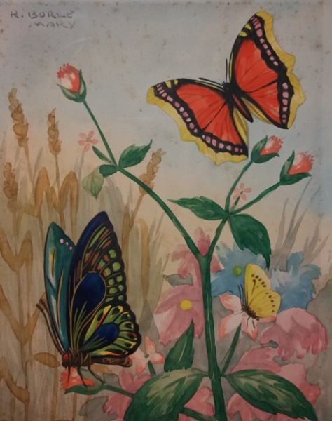 Burle Marx, Natureza, aquarela sobre papel, 25 X 20 cm, assinado no canto superior esquerdo