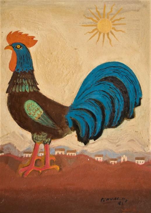 FULVIO PENNACCHI - (1905 - 1992) - Galo - ose - 32 x 23 - cid e d - 1983