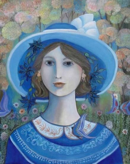 Menina de azul, SANTA,2007, 50x40,ost