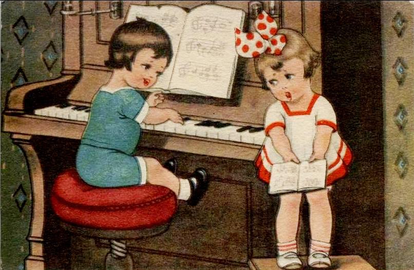 tocando piano, margret boriss