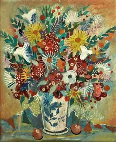 Alberto da Veiga Guignard ,Vaso de flores (1955), de Alberto da Veiga Guignard (1896-1962), Vitor Braga Galeria de Arte.