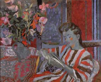 antoni clavé (ESpanha, 1913 -2005) Mulher lendo, 1942, óleo sobre madeira.