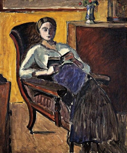 ASSELIN, Maurice(França, 1882-1947)Leitura,1925, ost,61 x 51