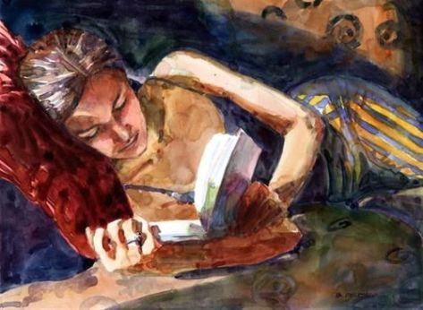 Belinda del Pesco (EUA, contemporânea) aquarela, 20 x 25 cm