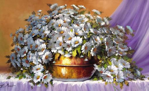 Jorge Maciel (Brasil, 1972) Floral, ost. 60x100cm