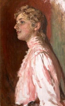 Agatha Miller as a Young Woman in Pink by Nathaniel Hughes John Baird