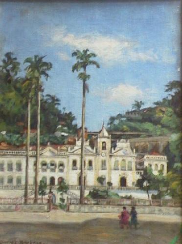 Dario Villares Barbosa, Santa Casa de Santos, 1944, óleo sobre tela, 41 X 28, PESP