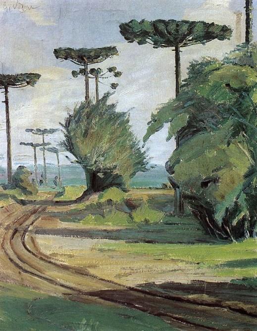 Guido Viaro - paisagem com pinheiros, 1940paisagem-com-pinheiros-guido-viaro-1940