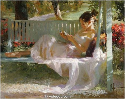 Vladimir Volegov Finished pantingFrench swing, 92x73 cm, oil on canvas, 2014