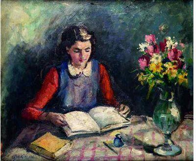 albert bertalan (1899 hungary - 1957 paris), la lecture