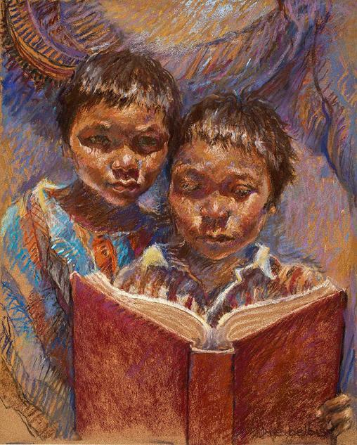 ellen-dreibelbis(eua) mexican-brothers-reading-ellen-dreibelbis