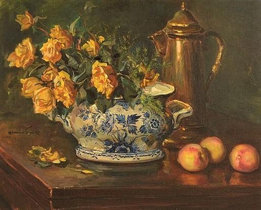 "oswaldo teixeira (1905 – 1974) ""vaso de flores"". o.s.t. - 65 x 82 cm."