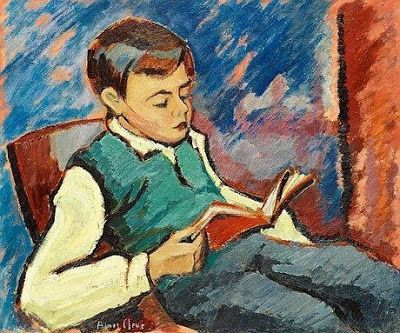 reading boy by agnes cleve born 1876 in uppsala, sweden died 1951