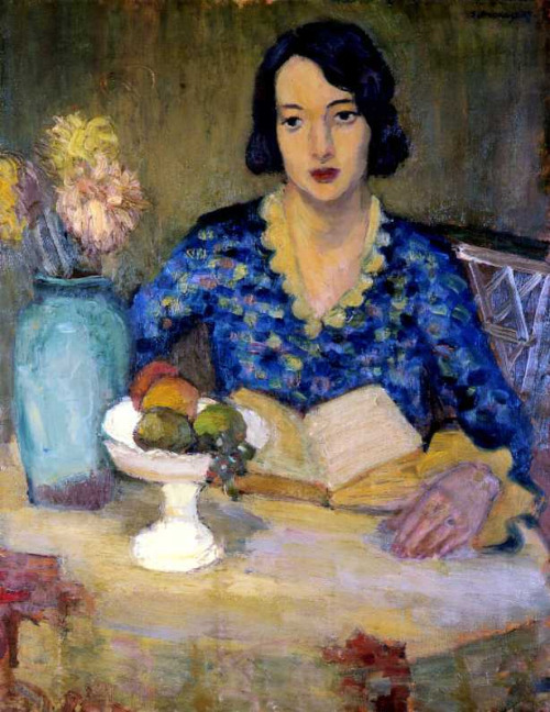 zbigniew pronaszko(polônia,1885 - 1958), retrato da esposa do pintor, 1935, ost
