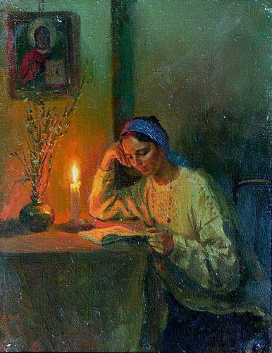 Alexey Shalaev (Rússia, 1966)à luz de vela, 1993, ost