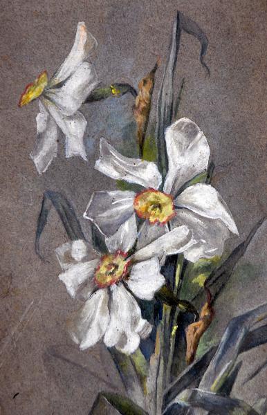 GINO BRUNO - Flor, osc colado em madeira, 44 cm x 31 cm