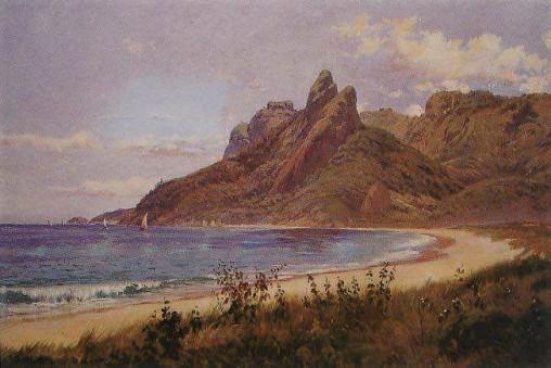 João Batista da Costa - Praias de Ipanema e Leblon - Oleo sobre tela - 1918.