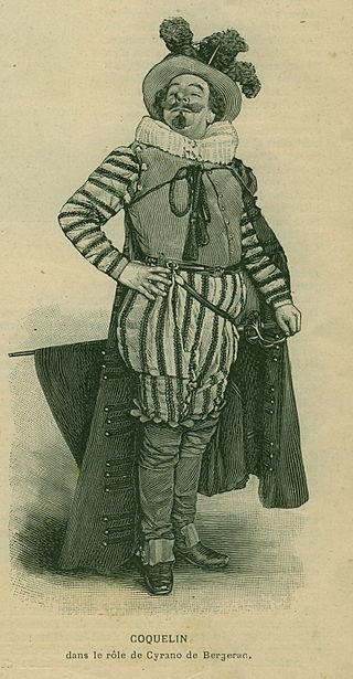 8-1-1898 Lillustration,Benoît-Constant Coquelin (Coquelin aîné), en Cyrano de Bergerac, à la première de la pièce du même nom, d' Edmond Rostand, le 27 décembre 1897 au théâtre de la Porte-Saint-Martin..
