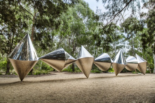 Bert Flugelman Cones 1976-82 polished stainless steel Collection of the National Gallery of Australia © Bert Flugelman