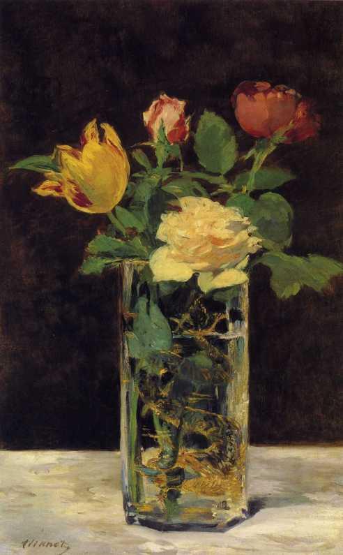 Édouard_Manet_-_Roses_et_tulipes_dans_une_vase_(RW_422)