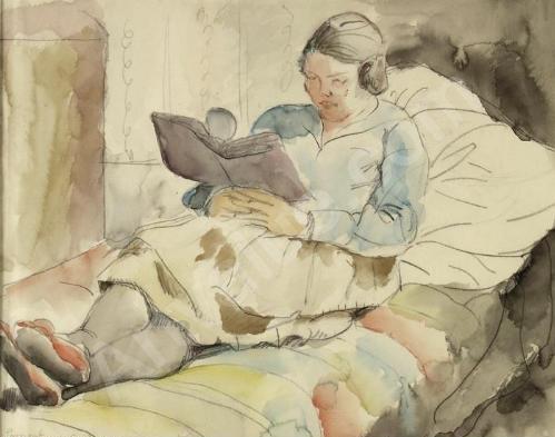 Charlotte berend-corinth (Alemanha, 1880-1967)lesende-frau-2005661