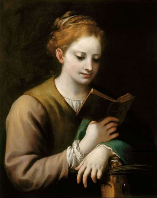 Corregio St Catherine Reading (c.1530-2). Antonio Allegri Correggio (Italian, 1489-1534). Oil on canvas. The Royal Collection