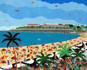 Lucia de Lima, ast, Forte de Copacabana, 38 x 46 cm