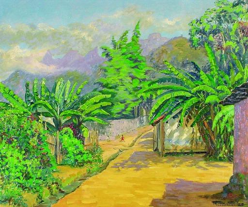 Paulo Silva, A Senhora das Bananeiras,54 x 66 cm – OST – Ass. CID e Dat. 1956
