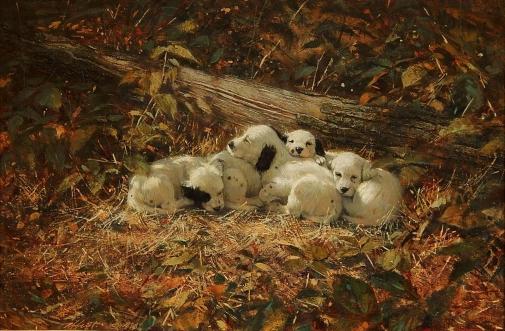 Robert K. Abbett (EUA, 1926 – 2015) ) Todos cansados,1978, ose, 50 x 76 cm